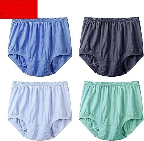 QPLMADCUR Pantalones Boxer, algodón, de Mediana Edad y Ancianos, Ropa Interior, Boxer para Hombres, Papi, Tallas Grandes, Sueltas, algodón, Ancianos: Amazon.es: Deportes y aire libre