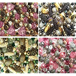 x4 Packs of Acrylic Jewellery Making Beads