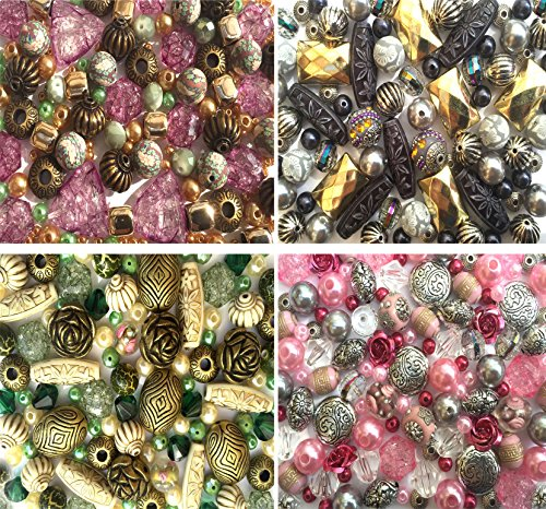 Jewelry Making Beads x4 Colour Packs Girls Hobby Craft
