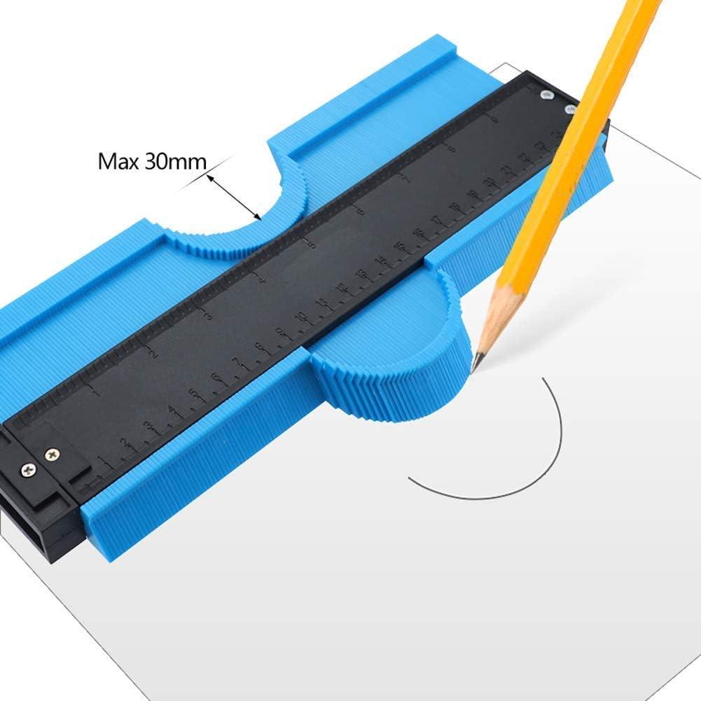 Duplicateur de contours de jauge de profil multi-tailles 25.5cm // 60mm ajustement parfait et outil de coupe facile pour le travail du bois et les coins outil de mesure de forme irr/éguli/ère