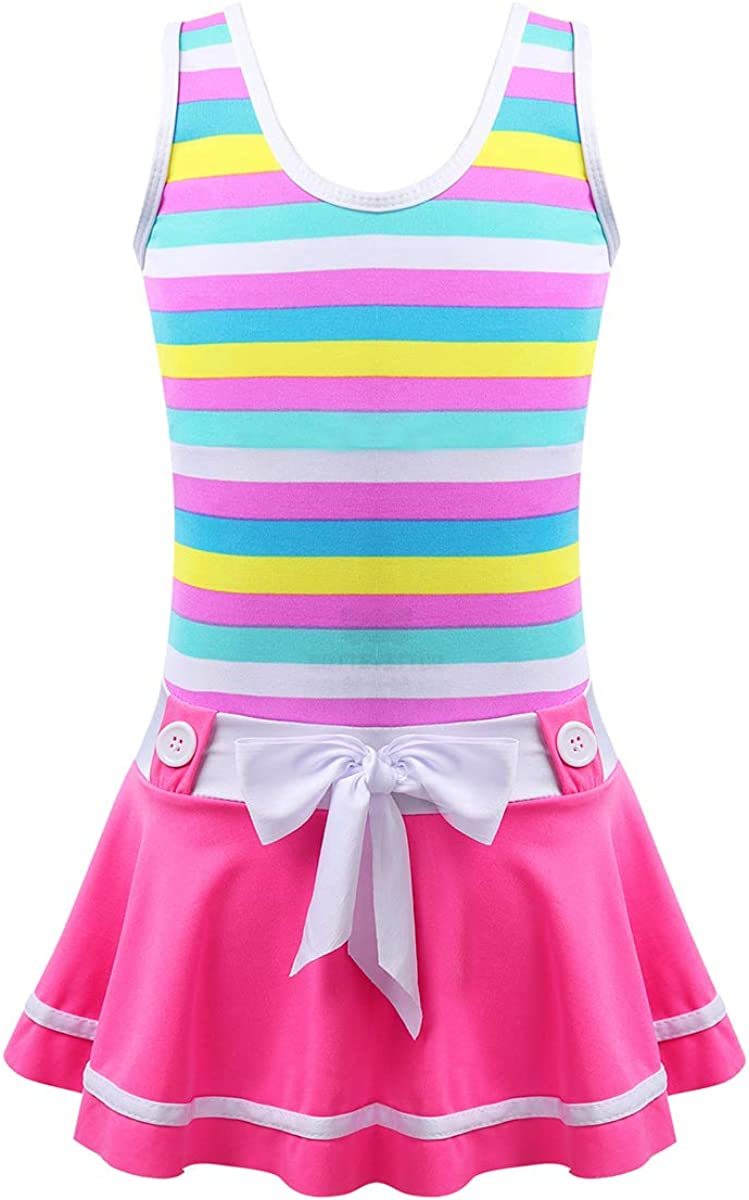 MSemis Kids Big Girls Youth Two-Pieces Tie-Dye Tankini Swimsuit Bathing Suits