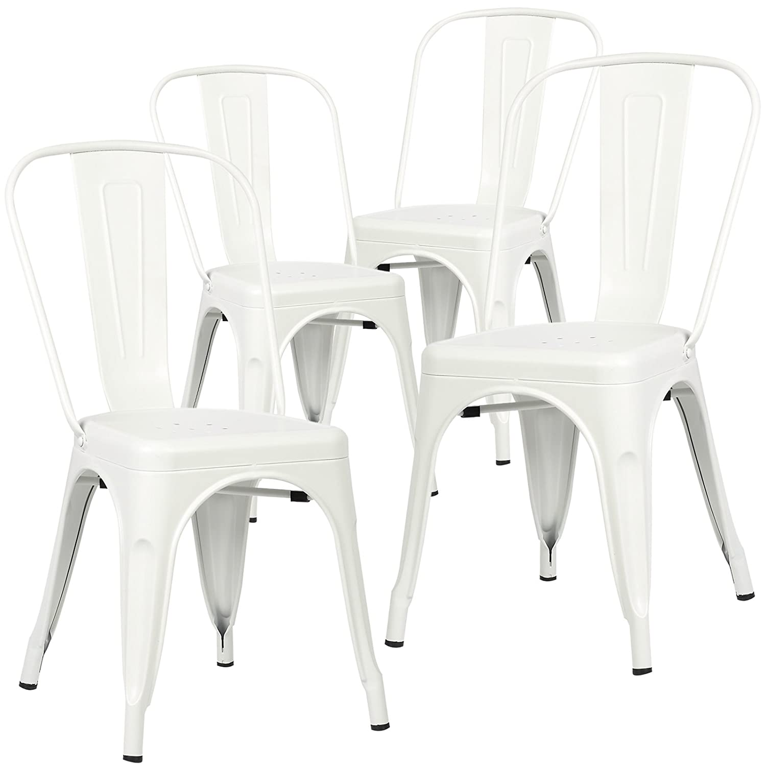Amazon.com - Poly and Bark Trattoria Side Chair in White (Set of 4 ...