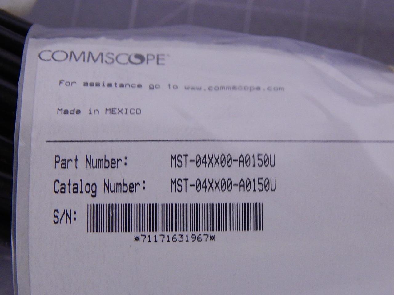 Commscope MST-04XX00-A0150U 4 Port Fiber Optic Multiport Service Terminal 150 FT