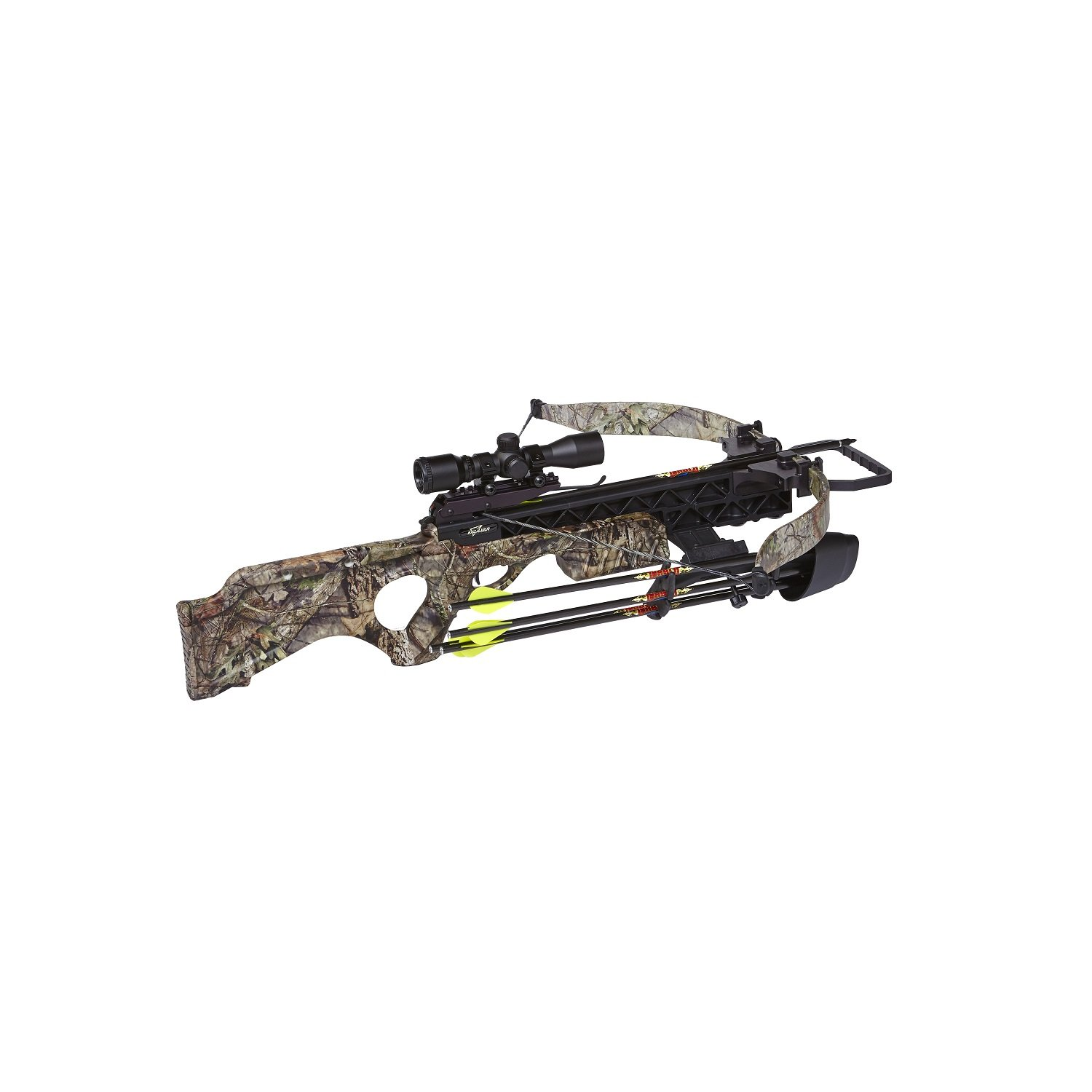 Excalibur Crossbow Null Matrix SMF Grizzly Crossbow with Lite Stuff Package/Vari-Zone Scope (Draw Weight : 200-Pound), Mossy Oak Break-Up Country, Recurve by Excalibur (Image #1)