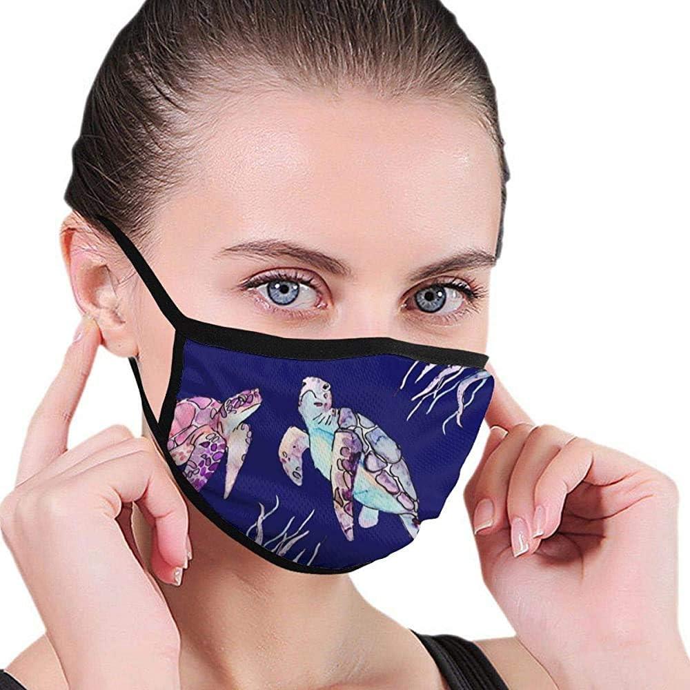 Máscara de Dibujos Animados de Tortugas Marinas Máscara de Boca Máscara de Belleza Máscara Lavable Lavable y Reutilizable con Banda elástica para Hombres y Mujeres para Todas Las Edades