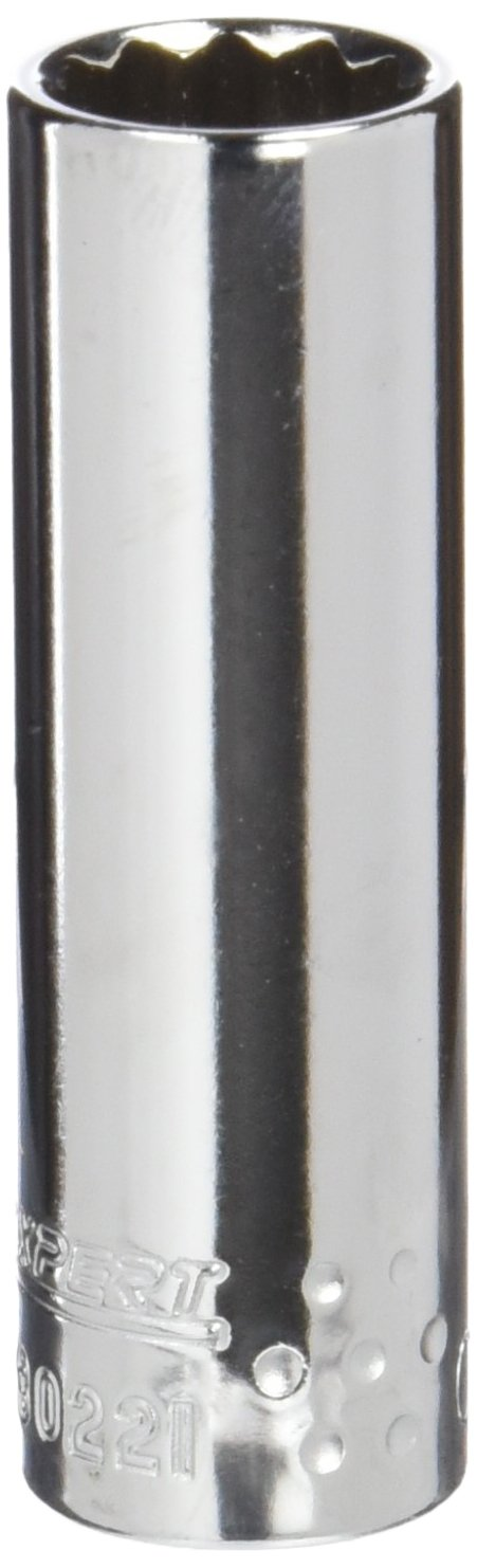 EXPERT E030221 Lange 12-Kant-Steckschlü ssel 1/4', Metrisch 11 Mm