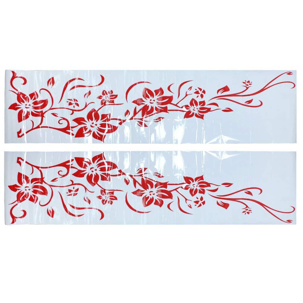 Homyl Flor de Coche Vine Stripe 71 '' Cuerpo Completo de Etiqueta Engomada Puerta Applique - Negro