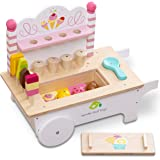 tender leaf toys 木製 アイスクリームカート 知育遊び かわいいイギリスデザイン ままごと オモチャ おもちゃ 赤ちゃん 男の子 女の子 知育玩具