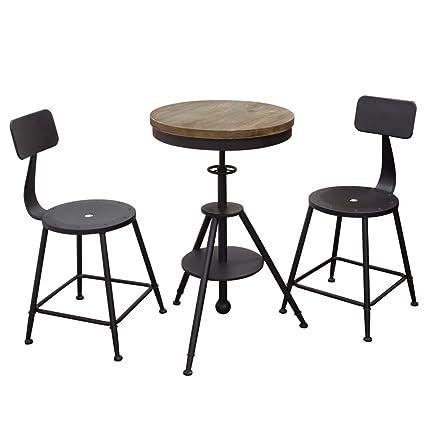 Incredible Amazon Com Diamond Sofa Douglas 3 Piece Adjustable Pub Set Machost Co Dining Chair Design Ideas Machostcouk