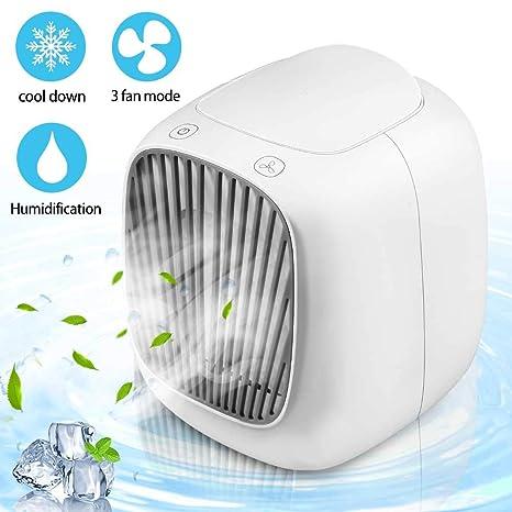 Mini USB Tischventilator Air Cooler Mobile Klimaanlage Haus Auto Büro Ventilator