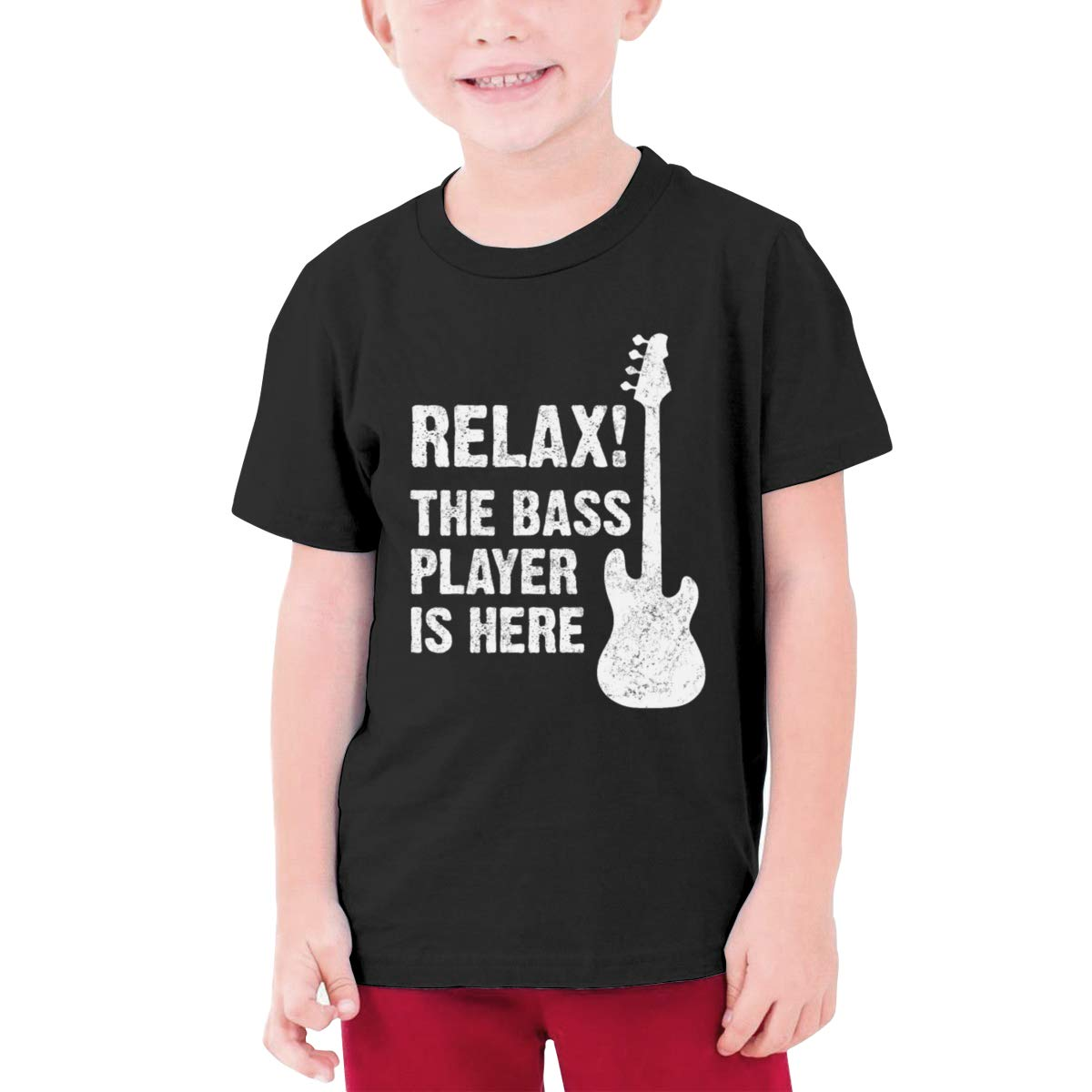 Relax The Bass Player is Here Boy Short-Sleeve Tee