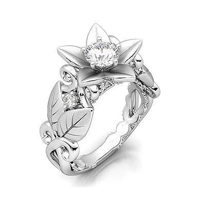 Amazoncom Fendina Vintage Inspired Cz Engagement Wedding Ring