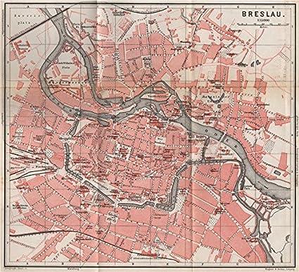 Amazon Com Breslau Wroc Aw Antique Town City Plan Miasta I Wroclaw