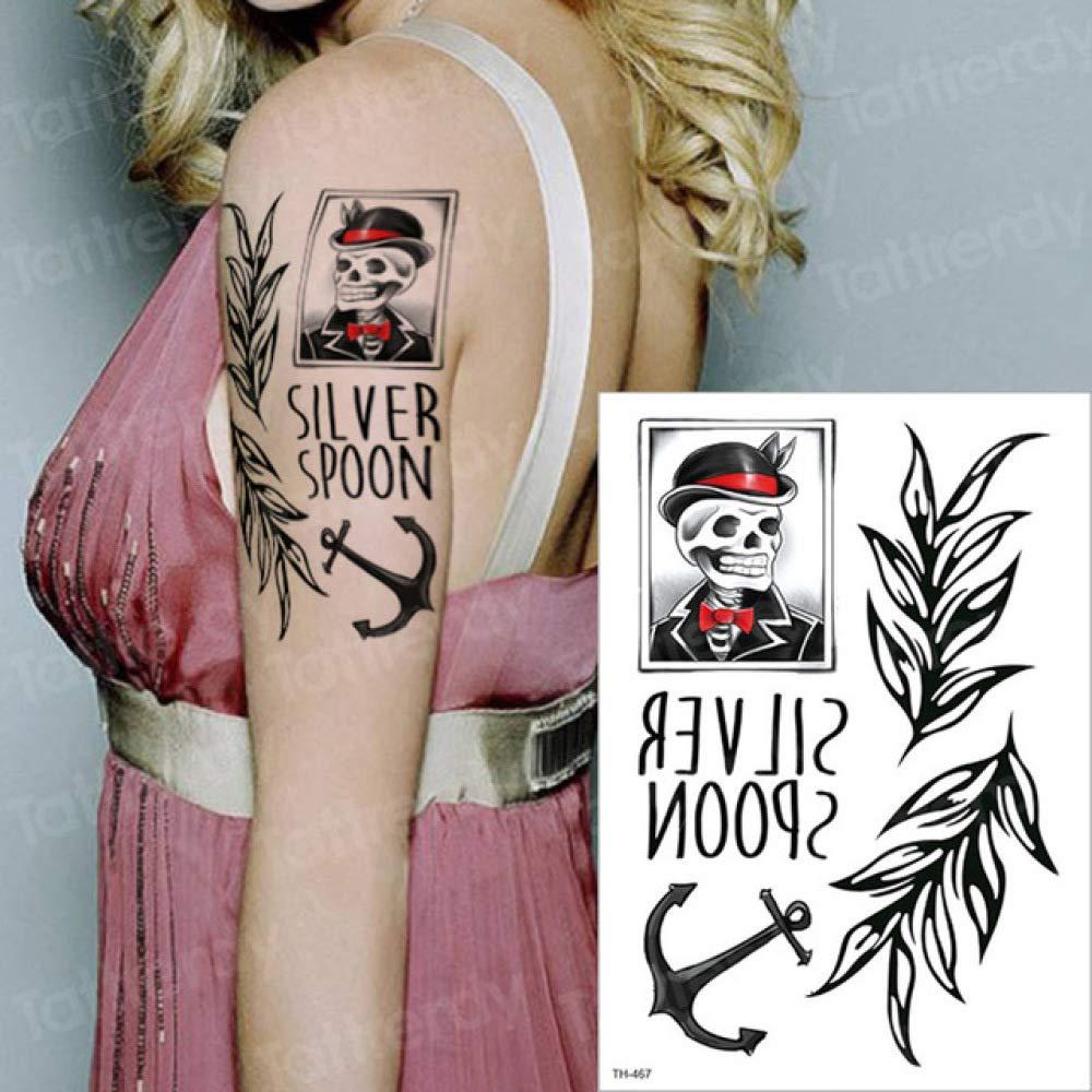 tzxdbh 2 Unids-Tatuaje Tatuaje Femenino Negro Etiqueta engomada ...