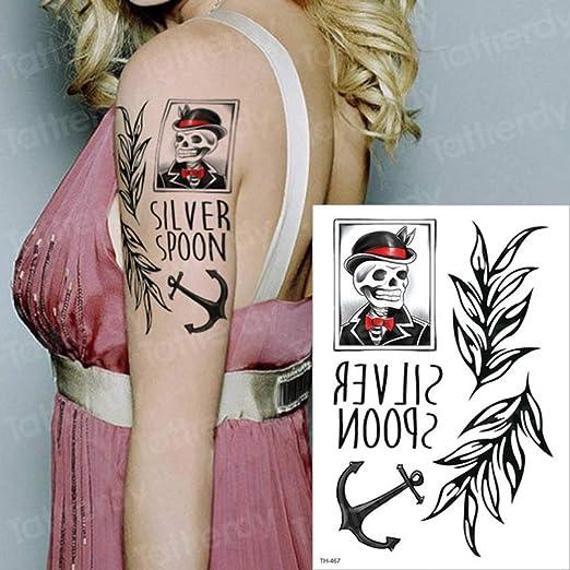 5pcsBlack Demon Wrist Etiqueta de Animales Tatuaje Gato Tatuaje ...
