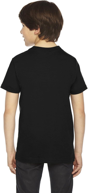American Apparel Boys Fine Jersey Short-Sleeve T-Shirt -BLACK 2201 8