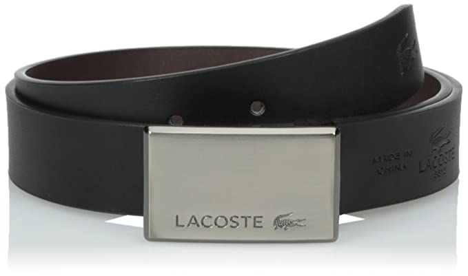 c576d475fa Lacoste Men's Premium Smooth Leather Belt with Interchangeable ...