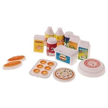 Gazechimp 12 Stück mini Lebensmittel Set Küche Zubehör für ...