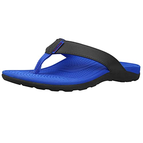 Everhealth Orthotic Sandals Stylish Thong Flip Flops Mens Ultra Comfort  Slippers with Arch Support for Flat Feet   Plantar Fasciitis 0740da9b9