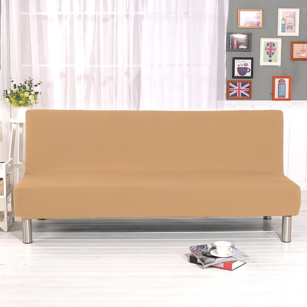 Color sólido todo incluido plegable Sofá cama Sofá cubierta ...