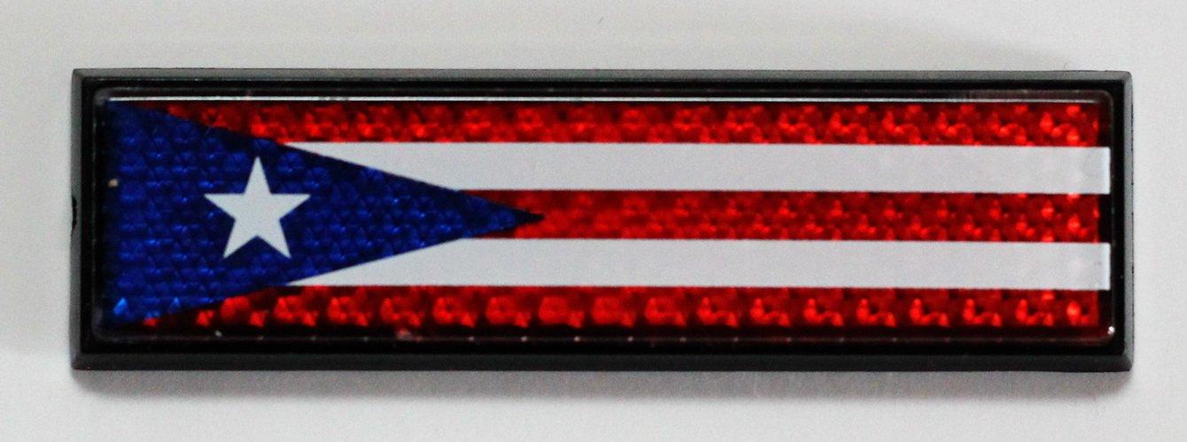 Puerto Rico Reflective Decal Bumper Sticker 3 Souvenir Destiny prreflectbumperdecal