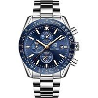 BENYAR Reloj cronógrafo para Hombre Movimiento de Cuarzo Fashion Business Sports Watch 30M Impermeable Regalo del Día…
