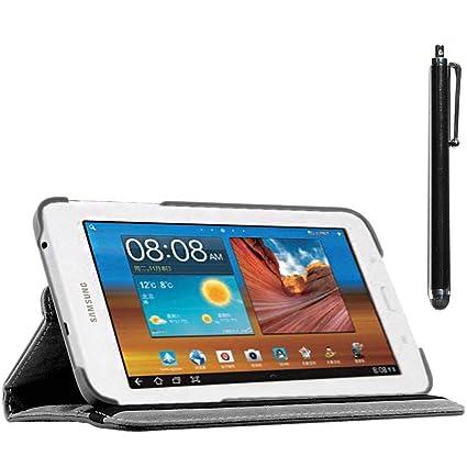 ebestStar - Compatible Funda Samsung Galaxy Tab 3 Lite 7.0 SM-T110, VE SM-T113 Carcasa Cuero PU, Giratoria 360 Grados, Función de Soporte + Lápiz, ...