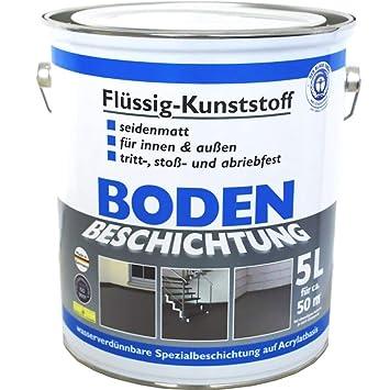 Bodenbeschichtung Bodenfarbe Ral7001 Flussigkunststoff 5l
