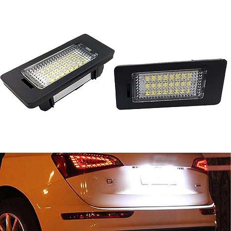 PolarLander 2Pcs Error Free 18SMD Car LED Number Matrícula Luz de la lámpara de Repuesto para
