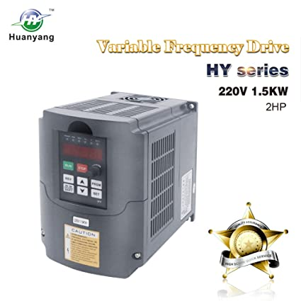 VFD 220V 1 5KW 2hp Variable Frequency Drive CNC Motor Inverter Converter  for Spindle Speed Control HUANYANG HY-Series(1 5KW, 220V)