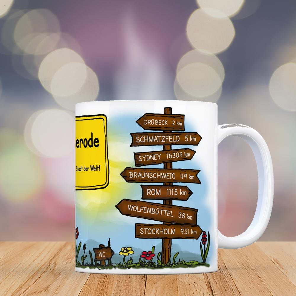 Tasse D/üsseldorf B/ürotasse Kaffeebecher farbige Stadtkarte St/ädtetasse Personalisierte Geschenkidee f/ür Kollegen Kollegin Architekt Richtfest Fernweh Heimweh