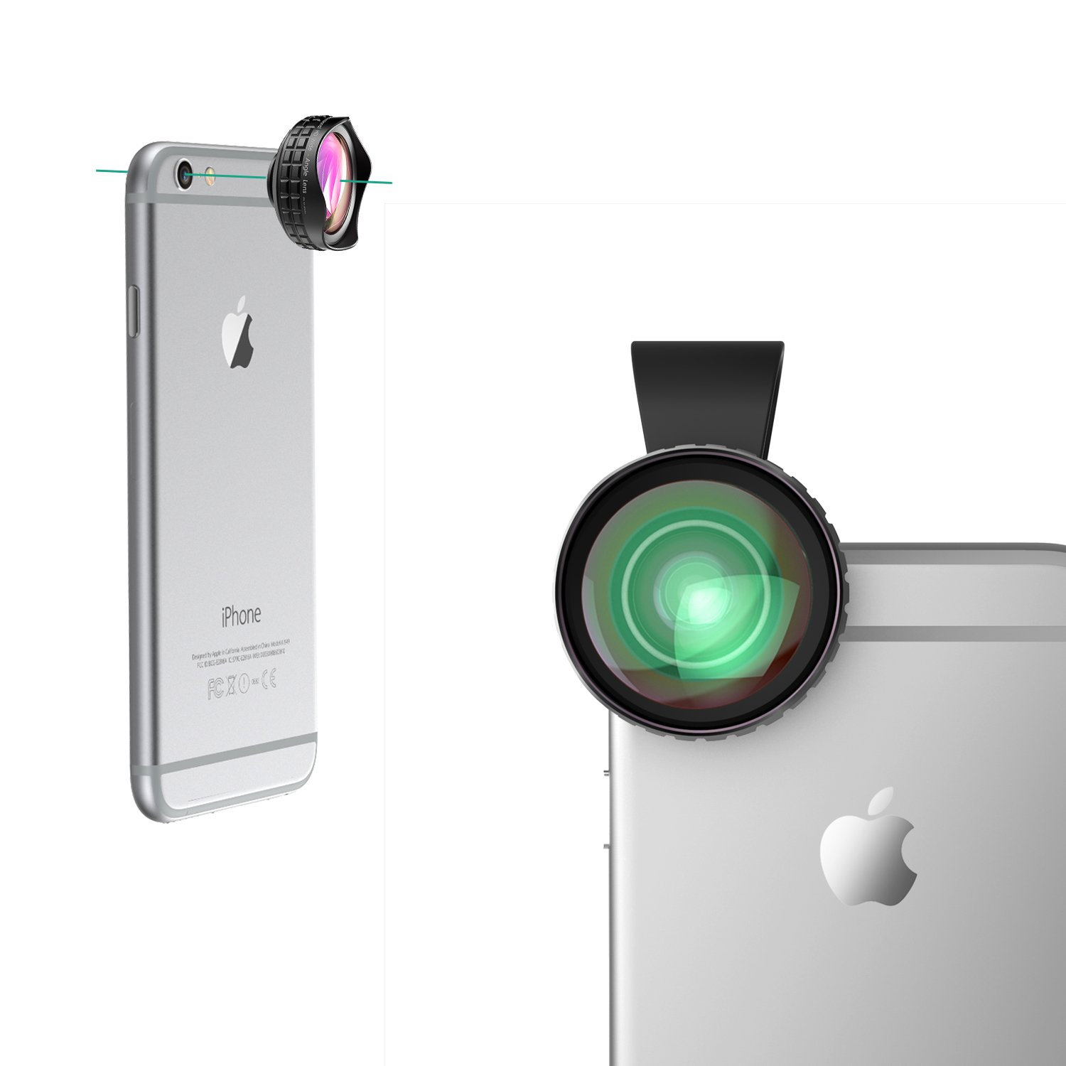 Camera Android Phone Camera Lens amazon com aukey ora iphone lens 0 63x wide angle clip on cell phone camera lenses for samsung android smartpho