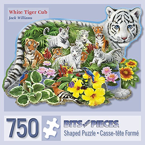 Bits and Pieces - 750 Piece Shaped Jigsaw Puzzle for Adults - White Tiger Cub