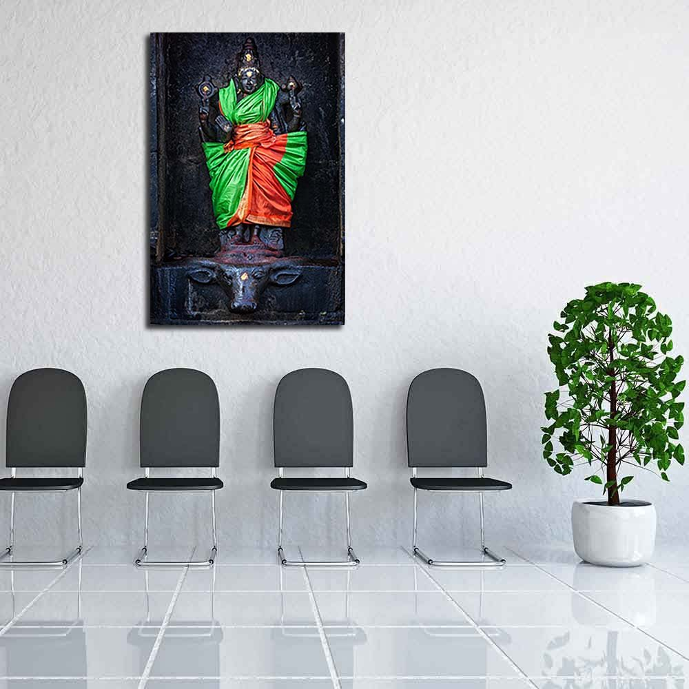 Pitaara Box PB Goddess Durga Temple Darasuram, Tamil Nadu India Unframed Canvas Painting 16 x 24inch by Pitaara Box (Image #6)