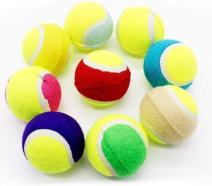 Funnyrunstore tamaño pequeño Perro Pelota de Tenis Juguetes para ...
