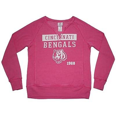 Girls CIN Bengals: Athletic Glitter Sweatshirt (Vintage Look)