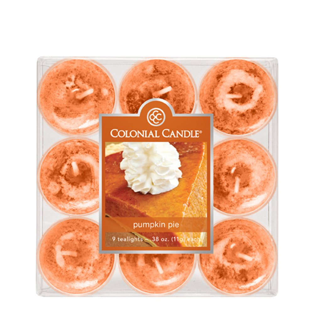 Colonial Candle Pumpkin Pie Tealights, Set of 9 by Colonial Candle