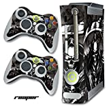xbox 360 reaper skins for console - Designer Skin for Xbox 360 Original Console and Two Controllers - Reaper - Black