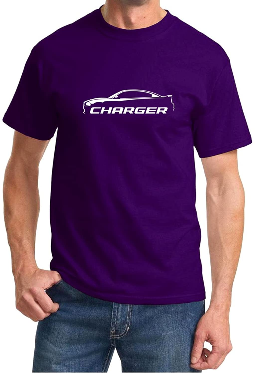 2010-14 Dodge Charger Classic Outline Design Tshirt small purple