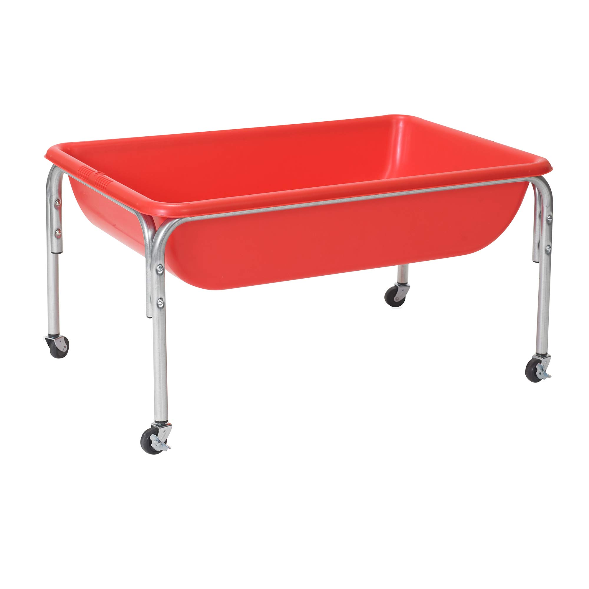 Children's Factory Large Sensory Table and Lid Set, 36'' by 24'' by 18'', Red - Fill with Water, Sand, Beads and More - Lid for Safe and Clean Storage - Made of Durable Plastic - Indoor or Outdoor Use by Children's Factory