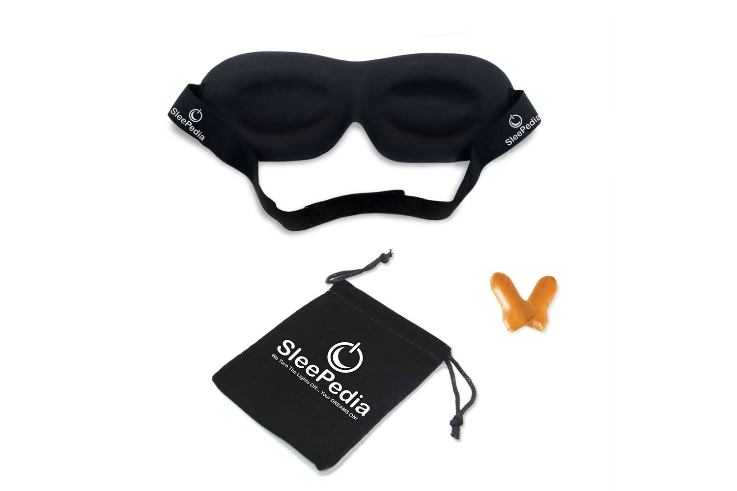 [TOP RATED] Sleep Mask with Earplugs PREMIUM Quality Contoured Eye Mask - Lightweight With Adjustable Strap - Blocks The Light Completely - Best For Travel, Insomnia or Quiet Night Sleep by SleePedia (Image #6)