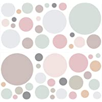 dekodino® Pegatina de pared pastel círculos en colores