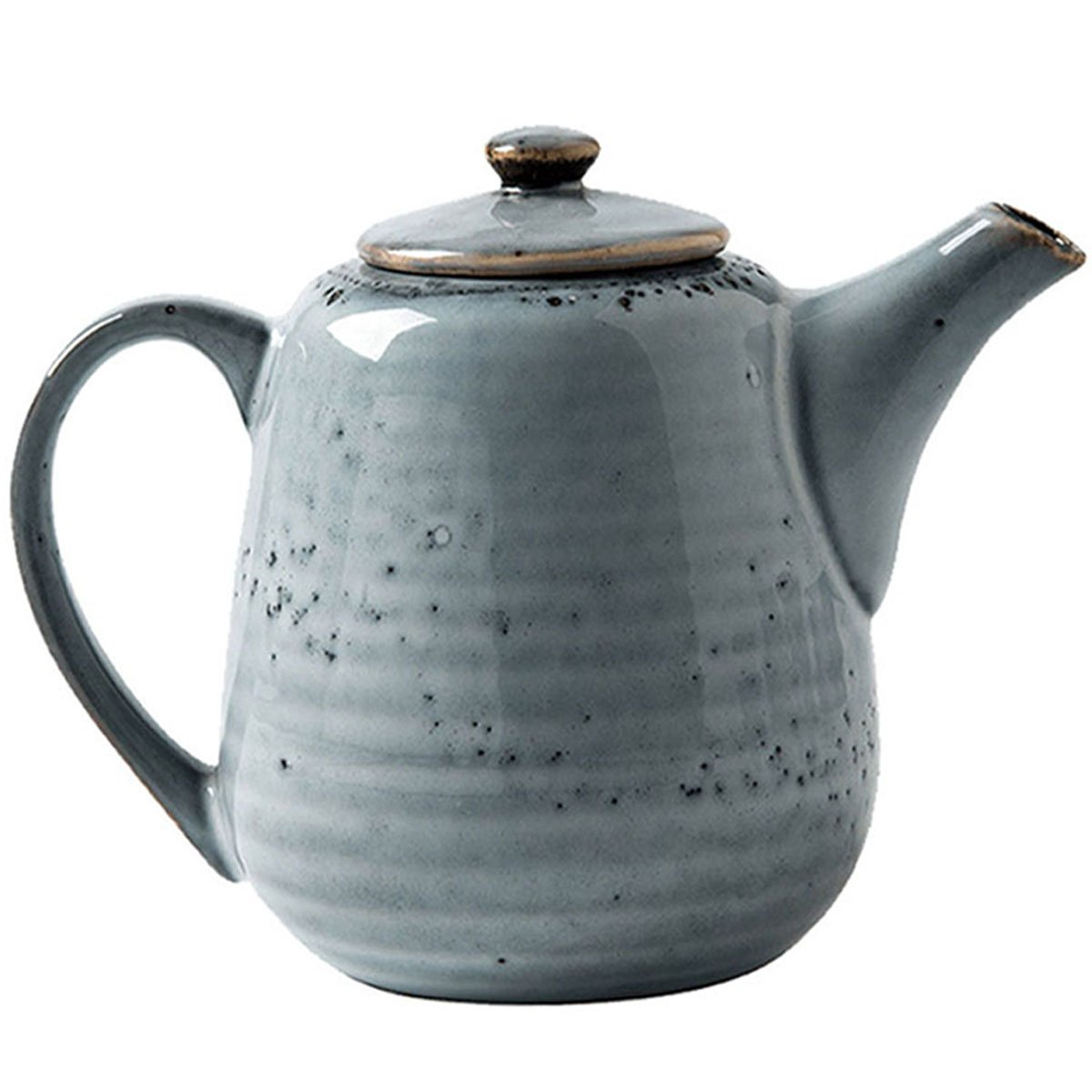 Wabol.T Vintage Styling Ceramic Teapot Coffee Serving Kettle with Built-in Strainer Holes
