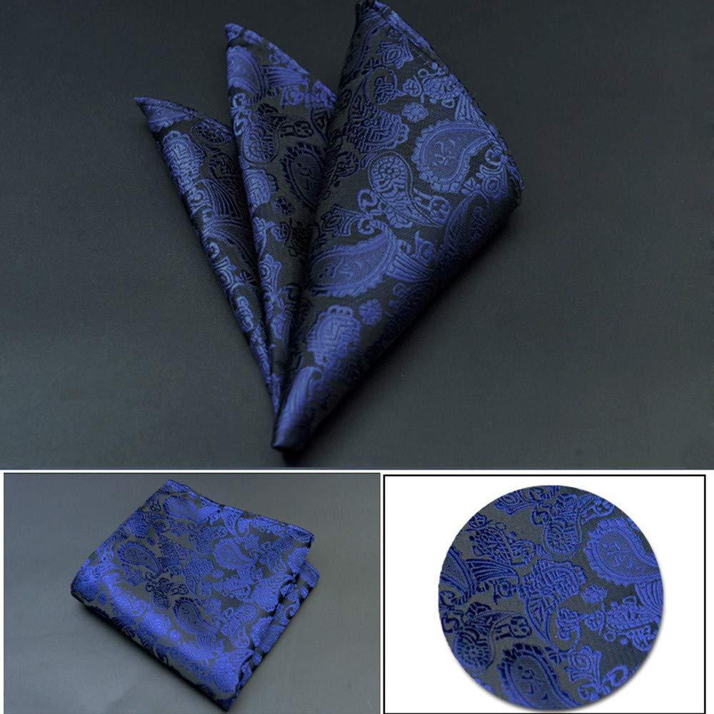 Men Cravat Ties Pocket Square,Floral Print Retro Suit Pocket Square Scarf Soft Chest Towel