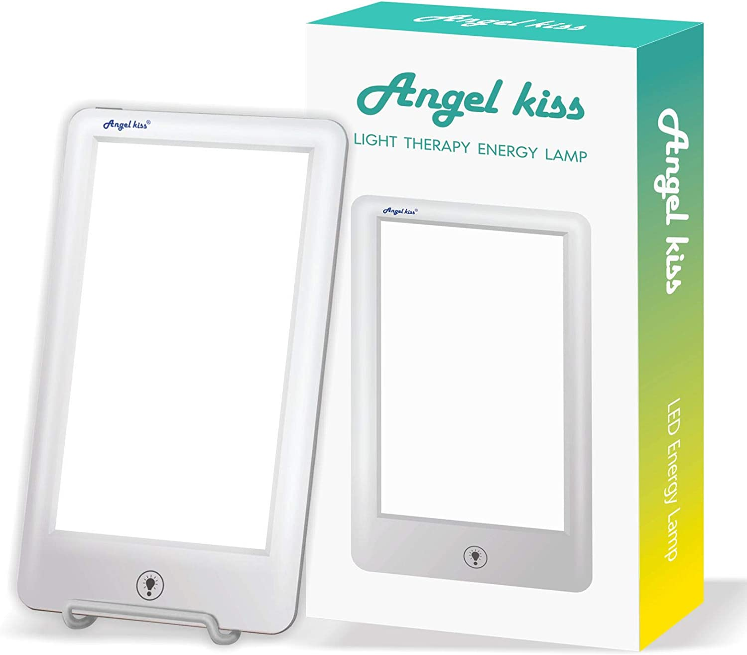 LED Light Therapy Lamp – Angel Kiss Touch 10,000 Lux Full Spectrum Happy Energy Light Sun Lamp – Bright White Daylight Box -MS7502