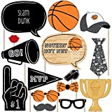 Nothin' But Net - Basketball Photo Booth Props Kit - 20 Count