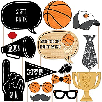 Amazon big dot of happiness nothin but net basketball photo big dot of happiness nothin but net basketball photo booth props kit 20 solutioingenieria Images
