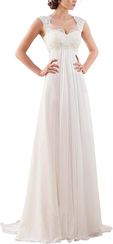Women S Sleeveless Lace Chiffon Evening Wedding Dresses Bridal Gowns