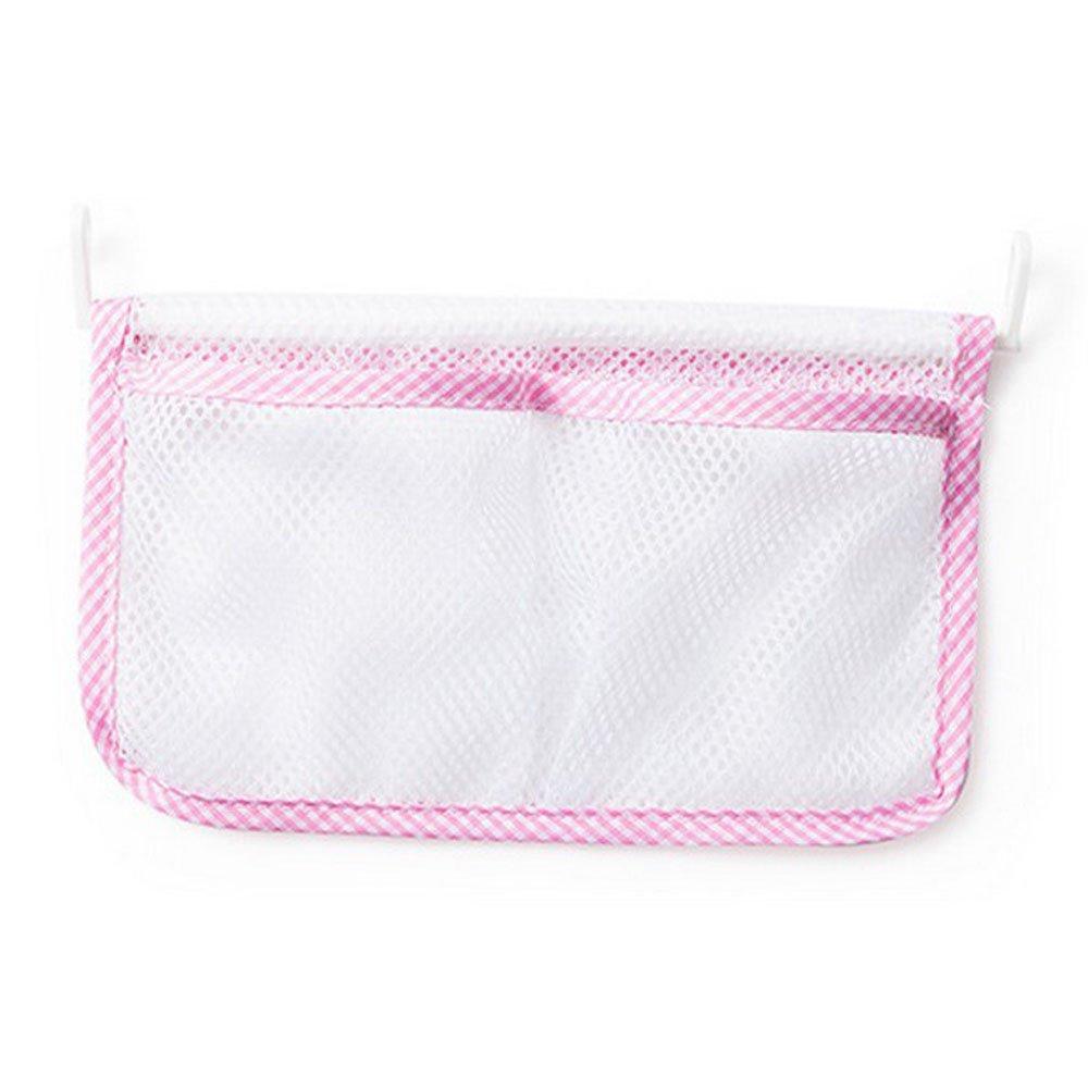 Connia New Kitchen Refrigerator Hanging Storage Bag Food Organizer Fridge Mesh Holder (Pink)
