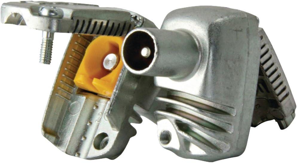 Televes 413210 - Conector proeasyf cei diámetro 9,5mm macho acodado blindado